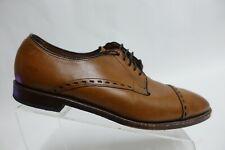 ALLEN EDMONDS Madison Ave. Walnut Brown Cap-Toe Derby Sz 11 D Men Dress Shoes