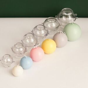 Sphere Candle Molds Durable Plastic Ball for Making Candles Classic Round Mold e
