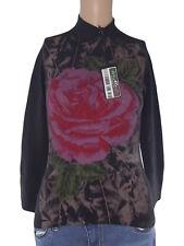 twin set maglia donna nero stretch glitterata taglia m medium