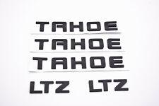 5x  Matte Black TAHOE LTZ Nameplate EMBLEM Letter for GM 07-18 Chevrolet USA