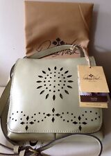 NEW Patricia Nash Laser Cut Collection Granada Mint Green Crossbody Purse Bag