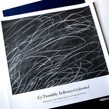 BEAUTIFUL CY TWOMBLY ORIGINAL NEW YORK GALLERY POSTER