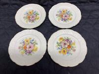"Edwin M Knowles China Co Semi Vitreous Set Of 4 Bread~Dessert Plates 6"" USA"