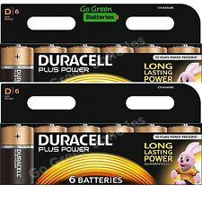 12 x Duracell D Size Plus Power Alkaline Batteries (LR20, MN1300, MX1300, Mono)