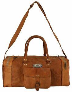 Bag Travel Weekender Overnight Luggage Handmade Bag For Men's New Leather Duffel