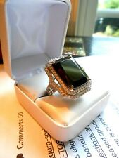 Black Onyx Ring Sterling Silver .925 Alexander Gems Vintage style  Art Deco