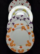 Rare Unique Set Of Four Disney Stoneware China Dinner Plates Fruity Mickey Ears