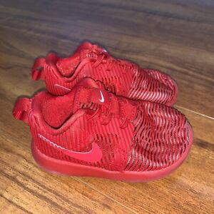 BAby Nike Roshe One Flight Shoes red 5c
