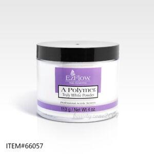 Ezflow Nail Acrylic Powder - Truly White 4oz #66057