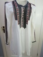 MONSOON Tunic Top Embroidered Size 16 Bohemian Ethnic Smock Folk Hippie Artisan