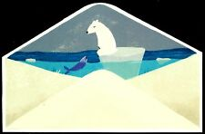 Polar Bear, Very Nice Die Cut Postcard, Infeel.Me Collection, Item # 06
