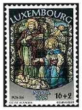 Timbre Religion Noël Luxembourg 1334 ** année 1995 lot 9550