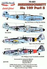 Lifelike Decals 1/72 MESSERSCHMIT Me-109 Fighter Part 5