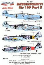 Lifelike Decals 1/72 MESSERSCHMIT Me-109 Fighter Part 5