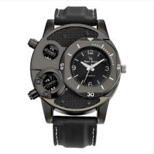 V8 Men Cool Military Army Casual Analog Quartz Leather Sports Wrist Watch Black