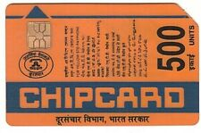 Inde - Old Chip Phonecard Plastic 1mm - 500 Units - Usagée/Used