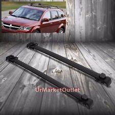 Black Aluminum Roof Rack Crossbar Top Luggage/Bag Rail for Dodge 09-17 Journey