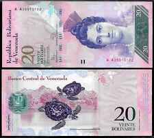 World Paper Money - Venezuela 20 Bolivares 2014 Series AA8 @ Crisp UNC