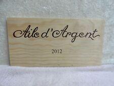 2012 AILE D'ARGENT  WOOD WINE PANEL END