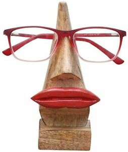 Nirvana Class Quirky Wooden Nose Shaped Eyeglass Spectacle Holder Display Stand