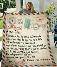 A Ma Fille Ta Maman Je T Aime Air Mail Quilt , Fleece Blanket Printing In Us