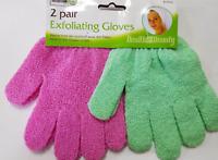 4x Exfoliating Body Scrub Gloves Shower Bath Mitt Skin Massage Spa