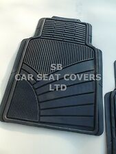 TO FIT A CHEVROLET OPTRA CAR, 2 PIECE RUBBER MATS, HEAVY DUTY, MH-003 BLACK