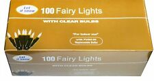 Traditional Christmas Fairy Lights 100 Clear Bulbs Xmas tree decoration Decor