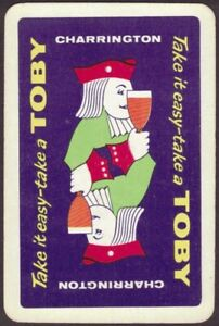 Playing Cards 1 Single Card Old CHARRINGTON Brewery TOBY BEERS Advertising MAN C