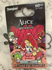 Disneyland ALICE IN WONDERLAND 60th Tea Party Madhatter March Hare Disney LE Pin
