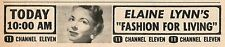 1961 KTTV TV AD~ELAINE LYNN'S FASHION FOR LIVING in LOS ANGELES,CALIFORNIA