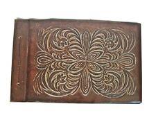 Vintage  leather photo album Large luxury Wedding album NOT USED