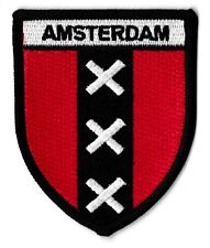 Patche Amsterdam écusson brodé blason patch thermocollant souvenir voyage