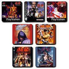 Tekken Series - Coaster Set - Coffee Tea - ps1 ps2 Tag tournament 1 2 3 4 5 6 7
