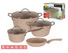 ENERGY SAVING Frying Pans Pot SAUCEPAN Cookware CASTED ALUMINIUM non stick STONE