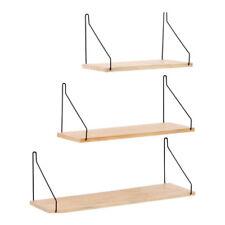 Floating Wall Shelves Wrought iron Wood Display Shelf Bookshelf Storage Unit