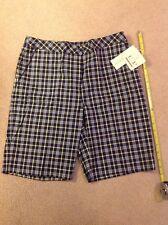 Nwt Women's Ep Pro Tour Tech Golf Tennis Plaid Bermuda Shorts Size 8 Msrp $74
