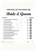 "Bridal Shower Kitchen Tea Game ""How Well Do You Know The Bride & Groom"" PDF File"