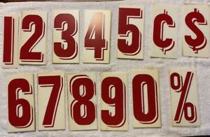 "Vintage Maquee Sign Plastic Replacement 6""  Numbers & Punctuation -FAST SHIPPING"