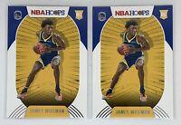 🏀2020-21 Panini NBA Hoops James Wiseman Rookie RC Warriors Lot of 2 🔥 🏀