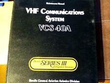 Bendix VCS-40A Com System VC-401 and CD-402A Install Service Manual