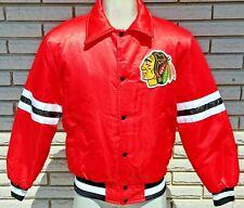 NWT Vintage Chicago Blackhawks Satin Jacket NHL Shain of Canada Hockey Embroided