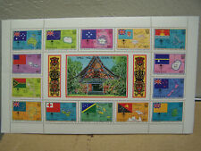 Tuvalu 1986 MNH Souvenir Sheet #388 - Maps, Flags - So Pacific Forum - Free Ship