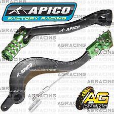 Apico Black Green Rear Brake & Gear Pedal Lever For Kawasaki KX 450F 2009-2015
