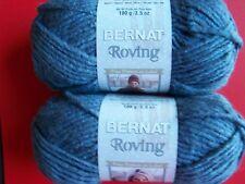 Bernat Roving bulky wool blend yarn, Lazuli, lot of 2 (120 yds each)