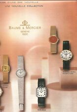 PUBLICITE MONTRES BAUME & MERCIER Nouvelle Collection an.60
