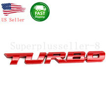 Auto Car Trunk Black Metal Turbo Logo Lettering Emblem Badge Sticker Decal