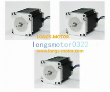 【US Ship】Stepper Motor 3PCS NEMA23 270 oz-in 3.0A 23HS8430 57BYGH CNC Mill Cut