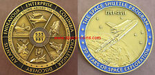 Space Shuttle Medaille mit GEFLOGENEM Material! Alle 6 Space Shuttle! 63mm, 75g!