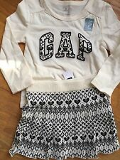 Baby Gap Girl18-24m Shirt& Skirt Outfit NWT